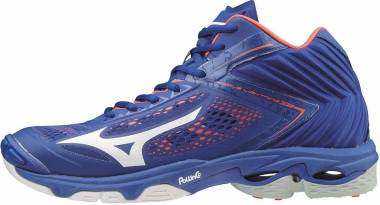 Mizuno Wave Lightning Z5 Mid - bleu/blanc/orange