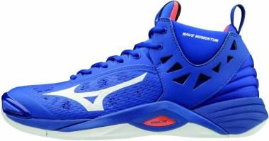Mizuno Wave Momentum Mid - bleu/orange