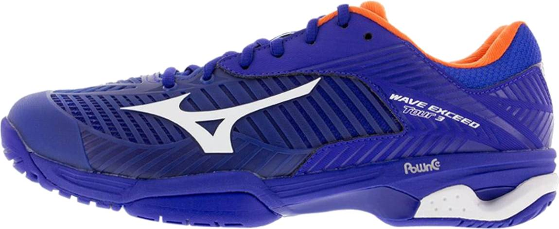 Mizuno Homme Wave Exceed Tour 3 All Court Chaussures de tennis Bleu Sport Respirant