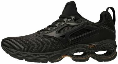 Mizuno Wave Creation Waveknit 2 - Dark Shadow - Black (4111649890)