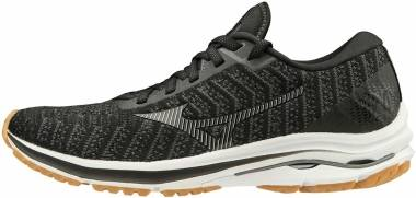 Mizuno Wave Rider 24 Waveknit - Black/Dark Shadow/Bi (4112259098)