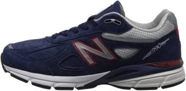 New Balance 990 v4 - Blue/Pigment Red (M990BR4)