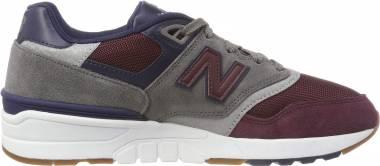 New Balance 597 - Red Nb Burgundy Castlerock Pigment Bgn