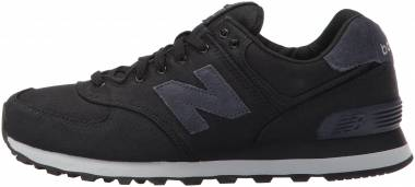 New Balance 574 Canvas Waxed - Black