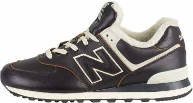 New Balance 574 Leather - Black (ML574WNE)