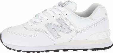 New Balance 574 Leather - Munsell White/N (ML574LPW)