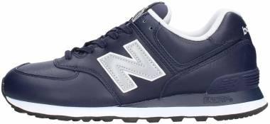 New Balance 574 Leather - Navy (ML574LPN)