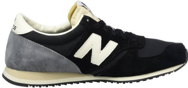 womens new balance black and blue 420 suede trainers