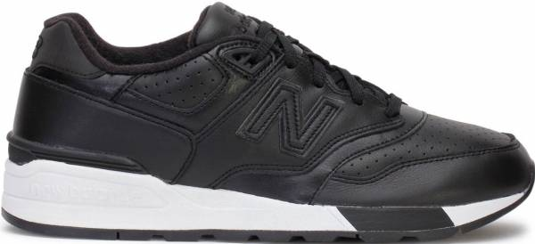 New Balance 597 Leather Black