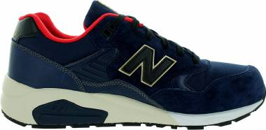 New Balance 580 - Navy With Red Gold