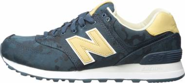 New Balance 574 Camo - Blue with Tan
