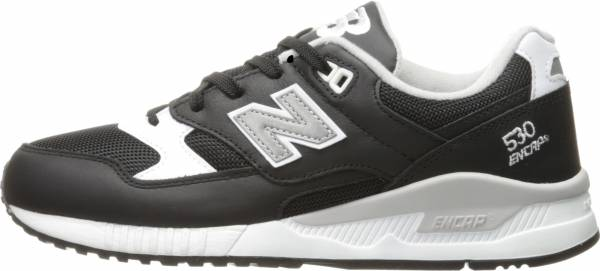 New Balance 530 Leather Black with White & Grey