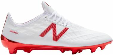 New Balance Furon 4.0 Pro Firm Ground - White Flame Orange