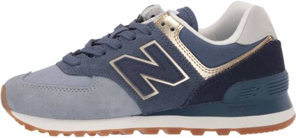 New Balance 574 Metallic Patch Mahogany