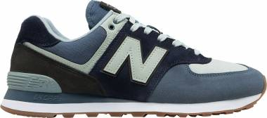 New Balance 574 Military Patch - Vintage Indigo/Black