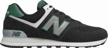 New Balance 574 Pebbled Sport - Black/Team Fore (ML574SRA)