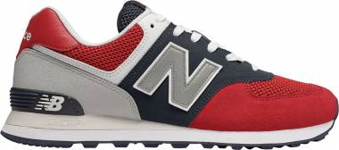 New Balance 574 Pebbled Sport - Team Red/Pigment