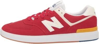 New Balance All Coasts 574 - Red / White (M574RWY)