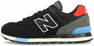 New Balance 574 v2  - Black Black Red Black Red (ML574JHO)