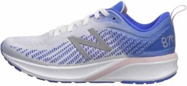 New Balance 870 v5 - White/Vivid Cobalt/Oxygen Pink (W870WB5)