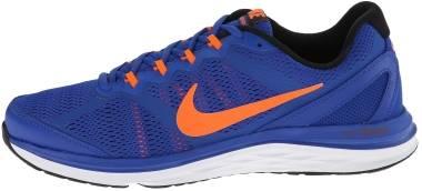 Nike Dual Fusion Run 3 - Coloris Variés (Bleu / Orange (Bleu Lyon / Orange Total - Noir - Blanc))