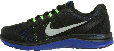 Nike Dual Fusion Run 3 Black / Metallic Silver / Hyper Cblt / Elctr Men