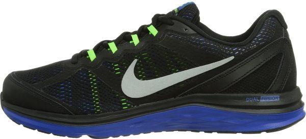 e4a030f4ee1a Nike Dual Fusion Run 3 Black   Metallic Silver   Hyper Cblt   Elctr