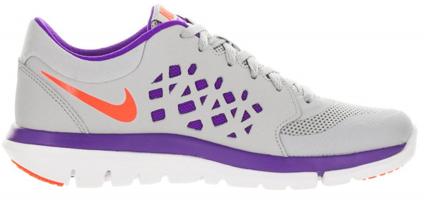 Nike Flex RN 2015 woman wolf grey/fierce purple/atomic pink/hyper orange