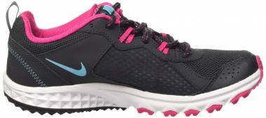 Nike Wild Trail - Anthracite Gray / Blue - Vivid Pink - White