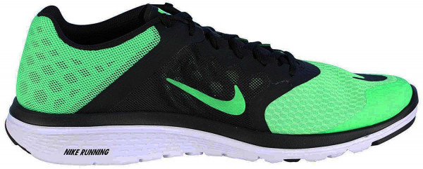 Nike Fs Lite Run 3 807144 001 Black White Mens US size 8, UK 7