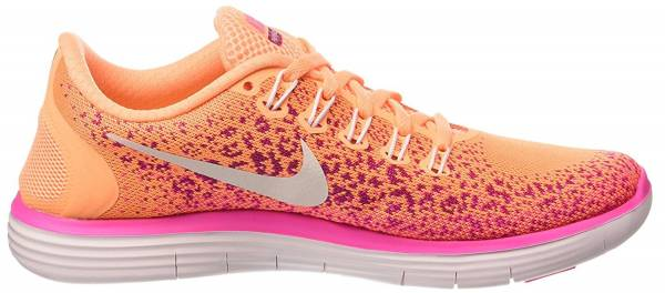 Nike Free RN Distance woman atomic orange white pink blast 800