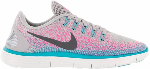 Nike Free RN Distance woman wolf grey/dark grey/pink blast/polarized