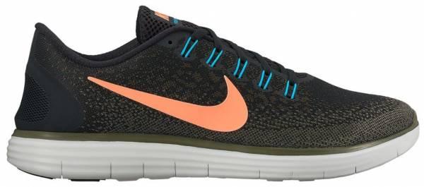 Nike Free RN Distance men black/bright mango-dark loden