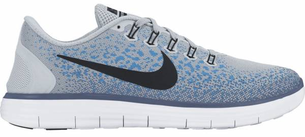Nike Free RN Distance men pure platinum, black, blue glow, ocean fog