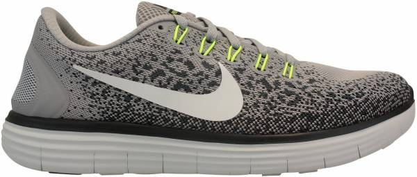 differently 729b6 1baf4 Nike Free RN Distance Grau (Wolf Grey   Off White-cool Grey-black