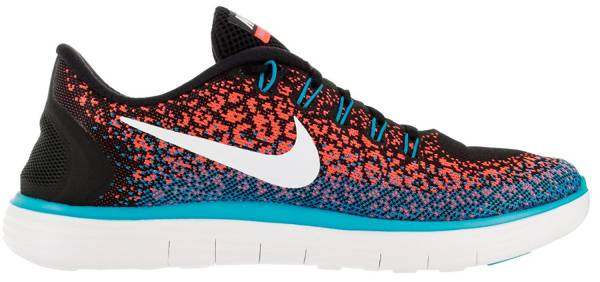 Nike Free RN Distance men black/hyper orange/blue lagoon/white