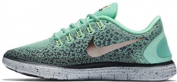 big sale c7e5c 03d88 nike wmns free rn distance chaussures de trail running femme vert green  glow mtlc filet bronze