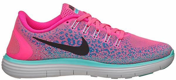 Nike Free RN Distance men hyper pink, black, blue glow, hyper turquoise