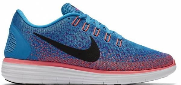 the latest 9bbcd 6a130 ... nike women s free rn distance running shoes 7 b m us blue lagoon black  violet persan