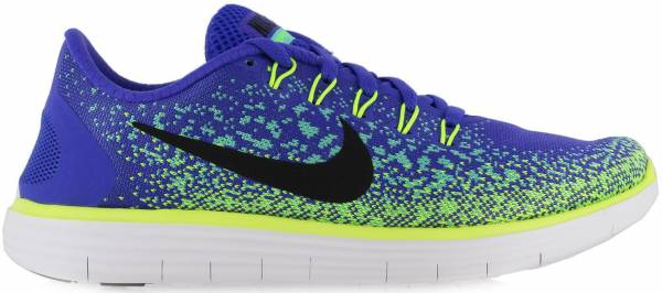 Nike Free RN Distance woman persian violet/black-green glow-volt
