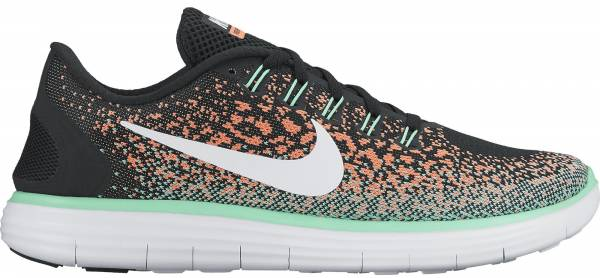 Nike Free RN Distance woman blackwhite bright mango green glow