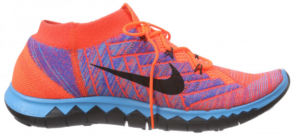 Nike Free Flyknit 3.0 men orange - orange (hypr orange/black-blue lagoon-bright crimson)