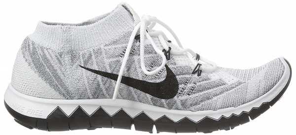 Nike Free Flyknit 3.0 woman white/pure platinum/wolf grey