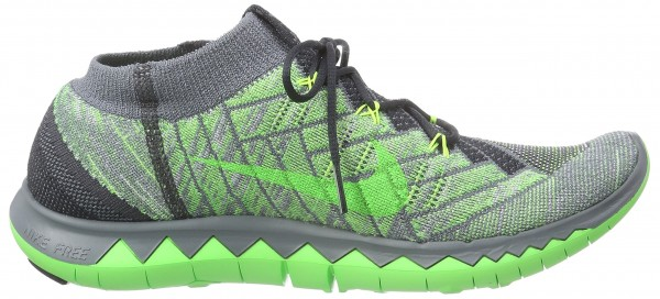 Nike Free Flyknit 3.0 men green - gru00fcn (anthracite/green strike-cl gry 002)