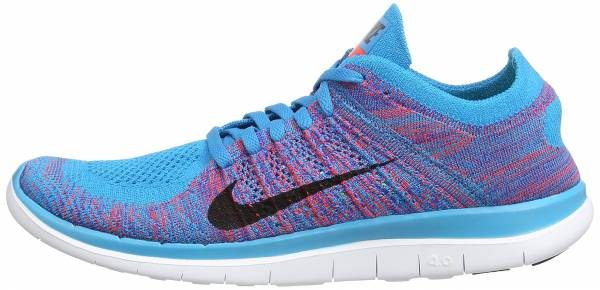 more photos 4a059 81bbc Nike Free Flyknit 4.0 Blau (Blue Lagoon Bright Crimson Game Royal White