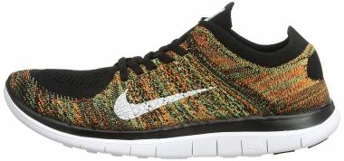 Nike Free Flyknit 4.0 - Black (Black/White/Poison Green/Total Orange)