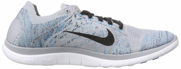Nike Free Flyknit 4.0 men grau (wolf grey/black-blue lagoon-white)