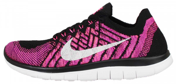 Nike Free Flyknit 4.0 woman black/pink pow-fuchsia flash