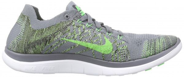 Nike Free Flyknit 4.0 men cool grey/green strike-black