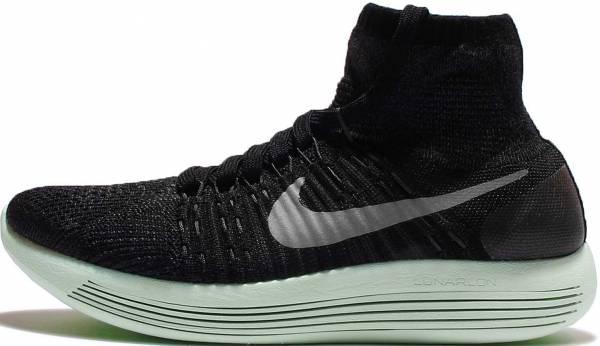 Nike LunarEpic Flyknit woman black (schwarz / mtlc pwtr-anthrct-vltg grn)